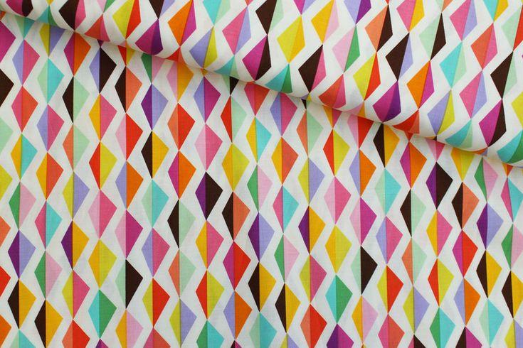 Stoff grafische Muster - Baumwollstoff Origami Oasis Michael Miller Fabrics - ein Designerstück von einfach-anziehend bei DaWanda