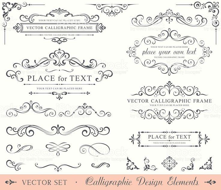 Calligraphic Design Elements royalty-free stock vector art