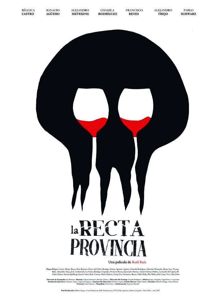 """Afiche """"La recta Provincia"""".  Técnica: Figura y Fondo"""