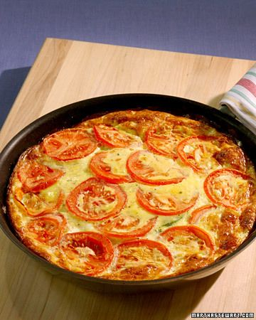 Zucchini Tomato Frittata - Add some squash, basil and love. You have yourself a great dinner in no time!