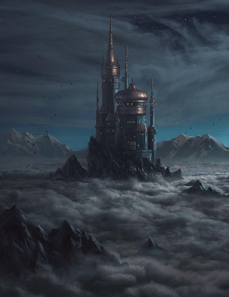landscapes castles fantasy art - photo #44
