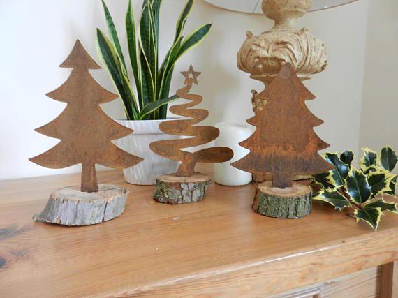 Rusty Metal Christmas Tree/ Rustic Christmas Tree / Christmas