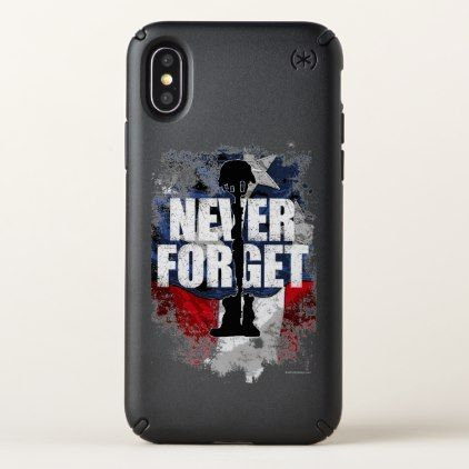 Never Forget (Memorial Day) Speck iPhone X Case - veterans day us patriot holiday usa vets