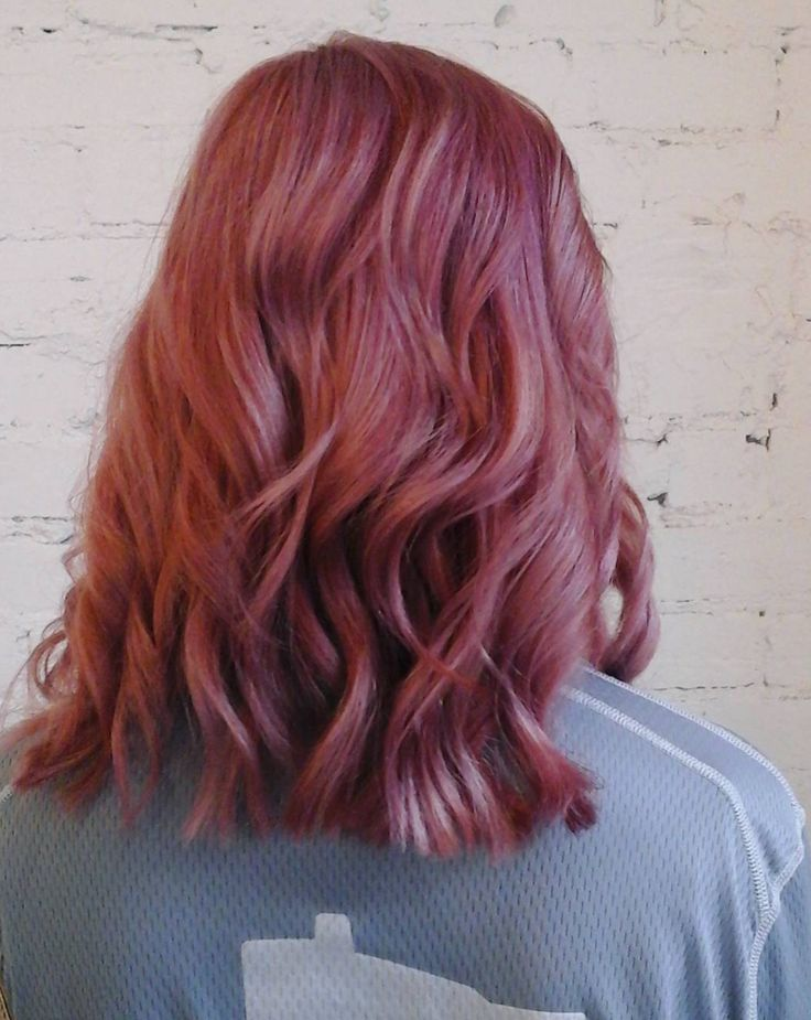 Take your pink hair color into a new season by going a little darker. This dark rose pink is the perfect twist for fall. Aveda color by Mattie at Juut Salon. Formula in comments.