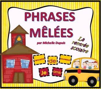 Phrases mêlées: Cette ressource permet de développer les concepts de base de la phrase tels que: - Majuscule au début de la phrase - Point à la fin de la phrase - Sens de la phrase