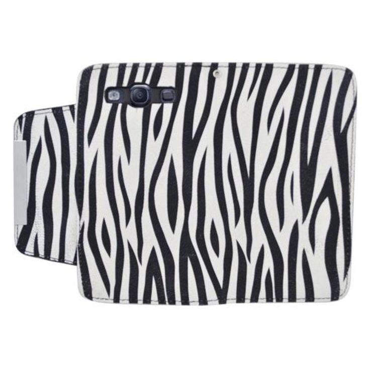 Insten / White Zebra Leatherette Case Cover with Wallet Flap Pouch For Samsung Galaxy S3 GT-i9300