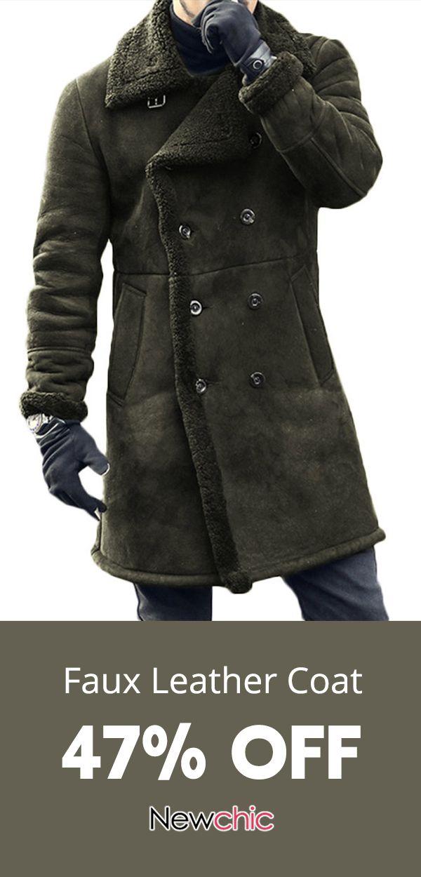 84c3c9df6b11 Mid Long Faux Leather Suede Coat #mensfashion | NC* Men's ...