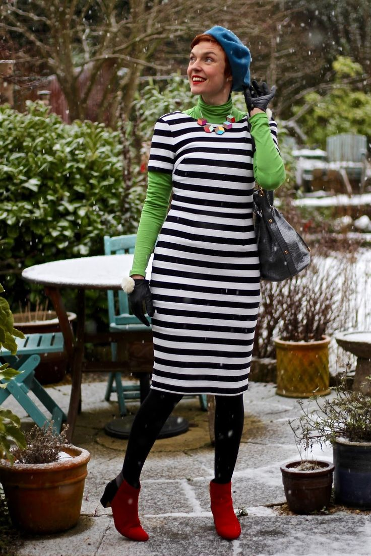 Bold Stripes and Bright Colours in Winter