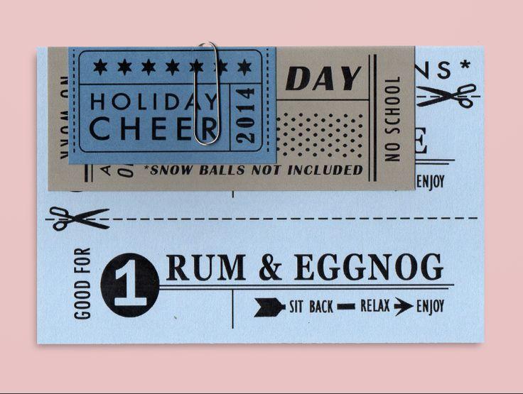 Festive ticket card.