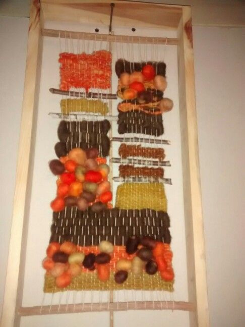 Telar tapiz en marco