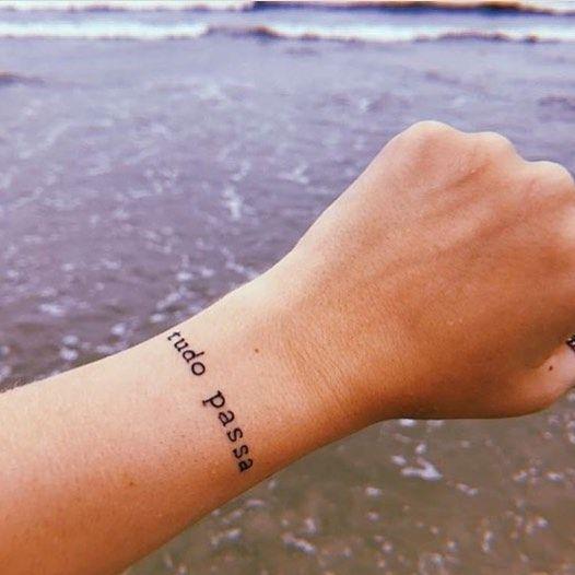 Tudo passa - tatoo