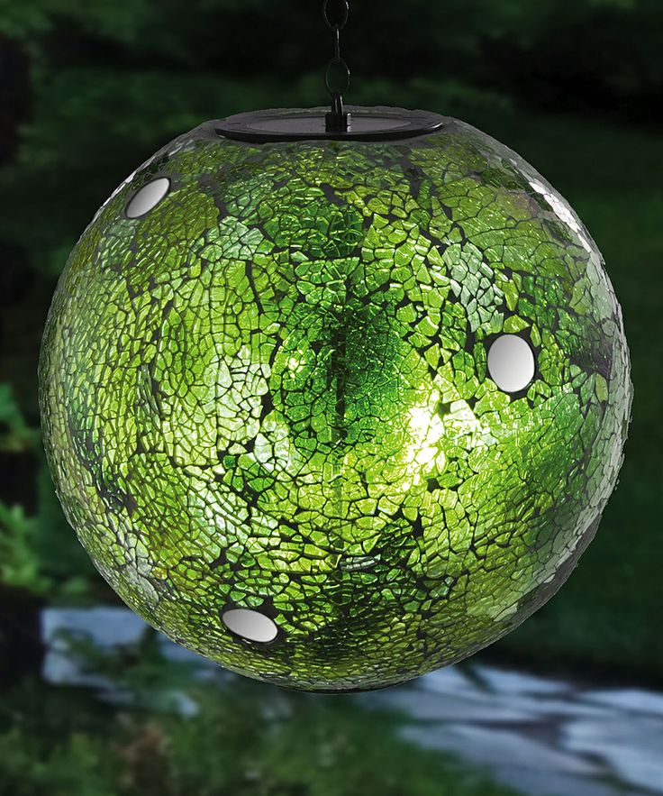 Green Mosaic Solar Gazing Ball