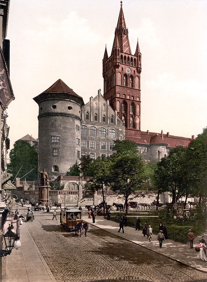 Königsberg Castle tower and Emperor William's Monument, Kaliningrad, Russia