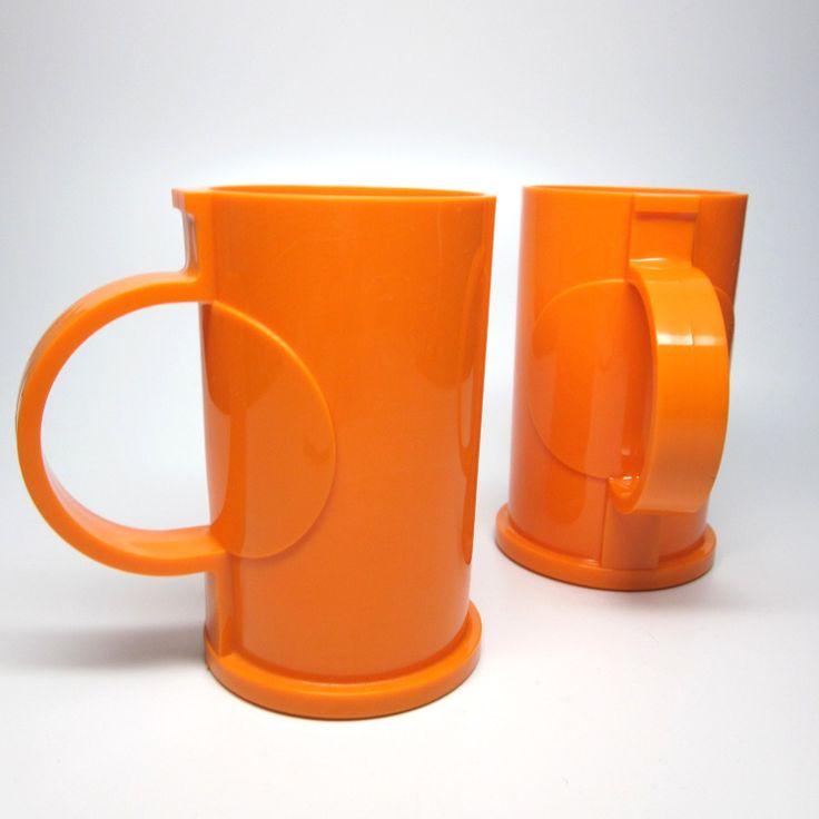 dansk plastic mugs vintage