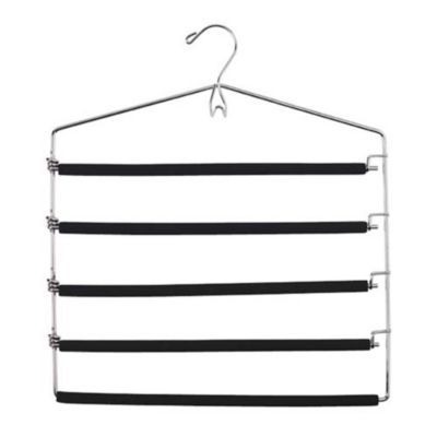 5 Bar Padded Trouser Hanger with Belt Hook