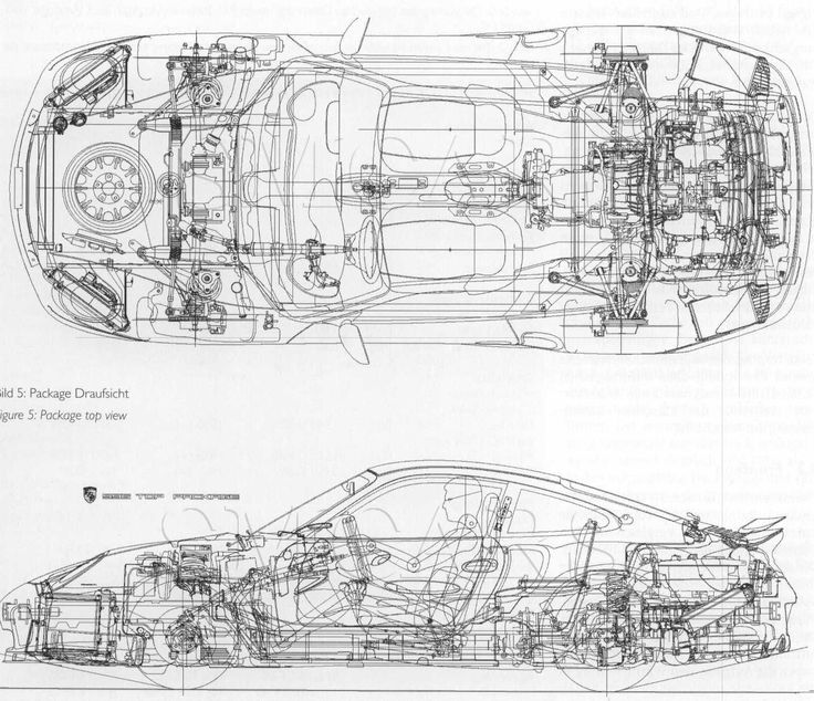 Porsche 911 (996) mechanic drawing | SMCars.Net - Car Blueprints Forum
