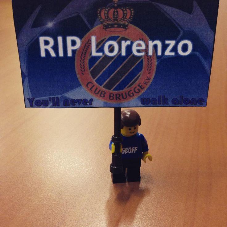 #RIP Lorenzo! Sterkte aan familie en vrienden @ClubBrugge #BTID #YNWA #legominifigs #ClubBrugge #lego