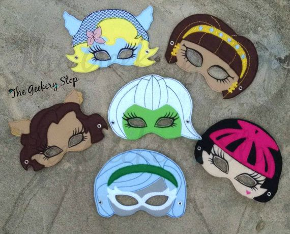 These mh inspired masks are the perfect party favor dress up add on on even everyday accessory - Masque monster high ...