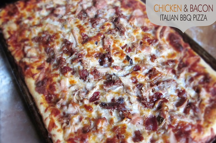 Diddles & Dumplings: Chicken Bacon Italian BBQ Pizza: Delicious Dinners, Chicken Recipes, Chicken Bacon, Recipes Pizza, Pizza Recipes, Bbq Pizza