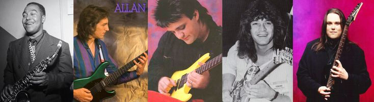 My Rushmore Mountain. Bird, Allan Holdsworth, Frank Gambale, EVH, Shawn Lane.