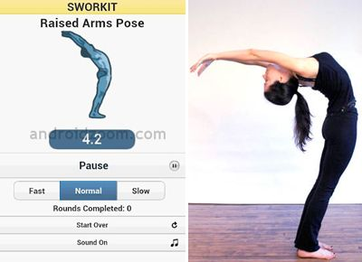 Sworkit - for easy workouts you can (supposedly) do anywhere.