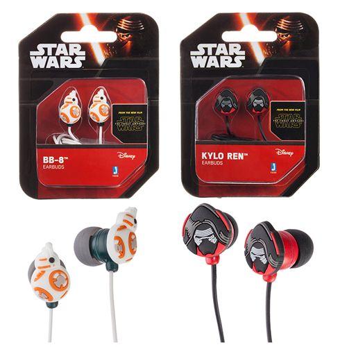 Star Wars Episode VII BB-8 and Kylo Ren Ear Bud Headphones Set