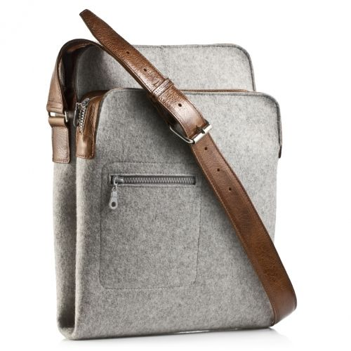 Messenger Bag - Zip-Top grey | Graf & Lantz