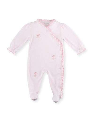 Ribbon Bouquets Pima Footie Pajamas, Pink, Size 0-9 Months