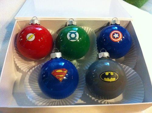 Superhero ornaments - 18 Amazing DIY Christmas Gifts for Kids