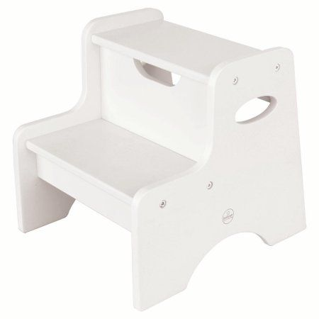 KidKraft Two Step Stool - White   Products   Stool, Dining room ...