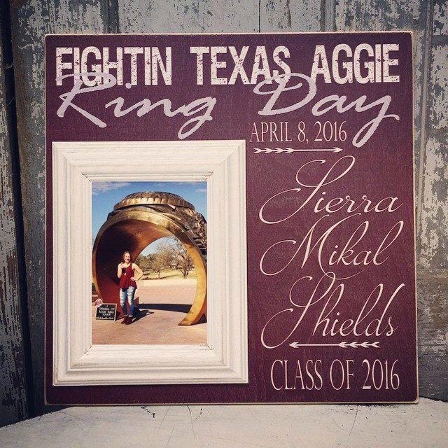 Ring Day, Texas Aggies, Gig Em, Whoop, 12th Man, Graduation Gift, TAMU Sign, TAMU Aggies, Texas A&M Aggies Ring Day, Madi Kay Designs 16x16 by MadiKayDesigns on Etsy https://www.etsy.com/listing/286976141/ring-day-texas-aggies-gig-em-whoop-12th