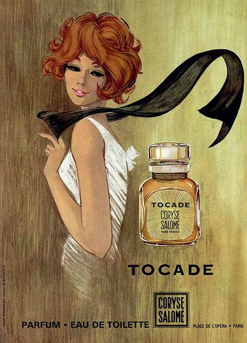 Tocade, Coryse Salomé perfume, 1960s  (by Addie ♥, via Flickr).  One of my most…