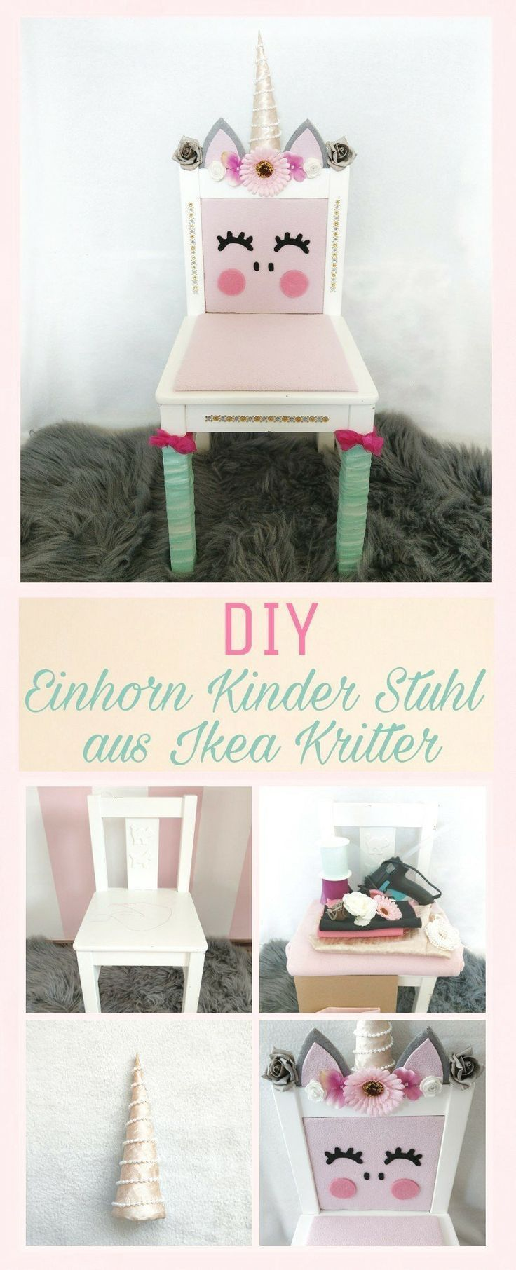 DIY unicorn chair upcycling from the Ikea Kritter baby
