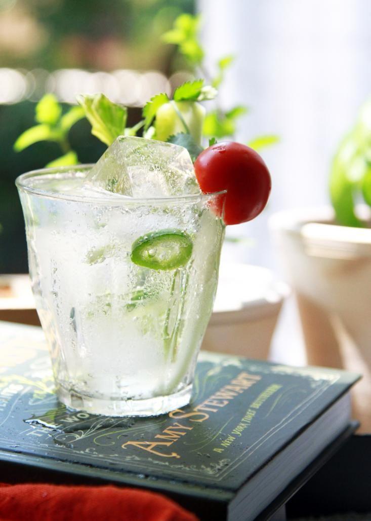 Jalepeno, Cucumber, Cilantro Gin & Tonic. The drunken botanist by Amy Stewart