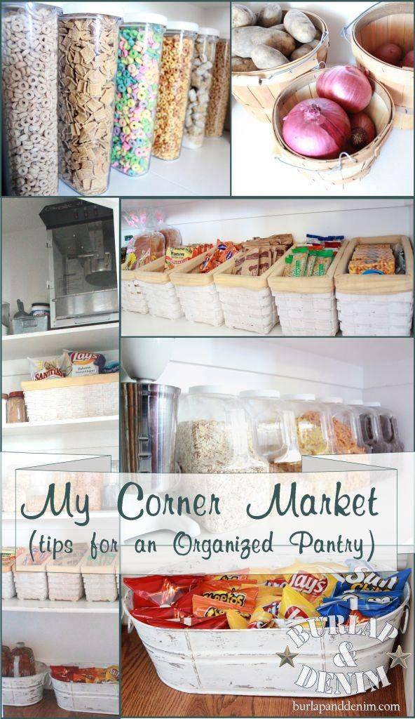 Pantry Organization Tips - Love this!