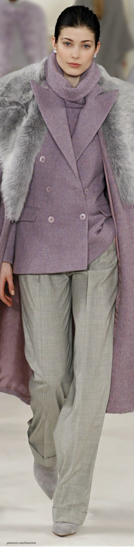 Ralph Lauren ● Fall 2014 if I had to choose one piece....the coat! definitely the coat!
