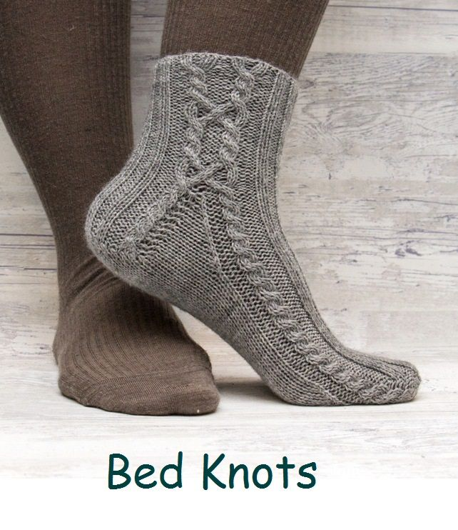 Bed Knots. A design for a short sock with cables.