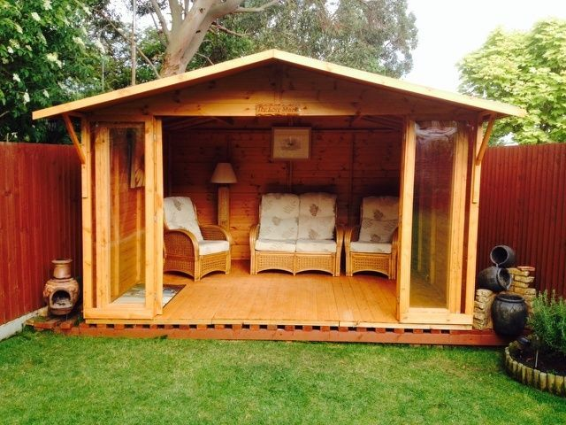 Garden Sheds With Patio On Decorating