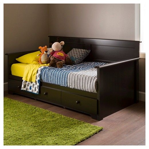 """Summer Breeze Twin Daybed with Storage - 39""""- Chocolate - South Shore : Target"""