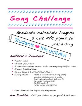 Song Challenge - Fun Activity with the Physics of Sound $