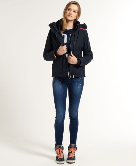 Shop Superdry Womens Fairisle Windcheater in French Navy/navy Pri. Buy now  with free delivery from the Official Superdry Store.
