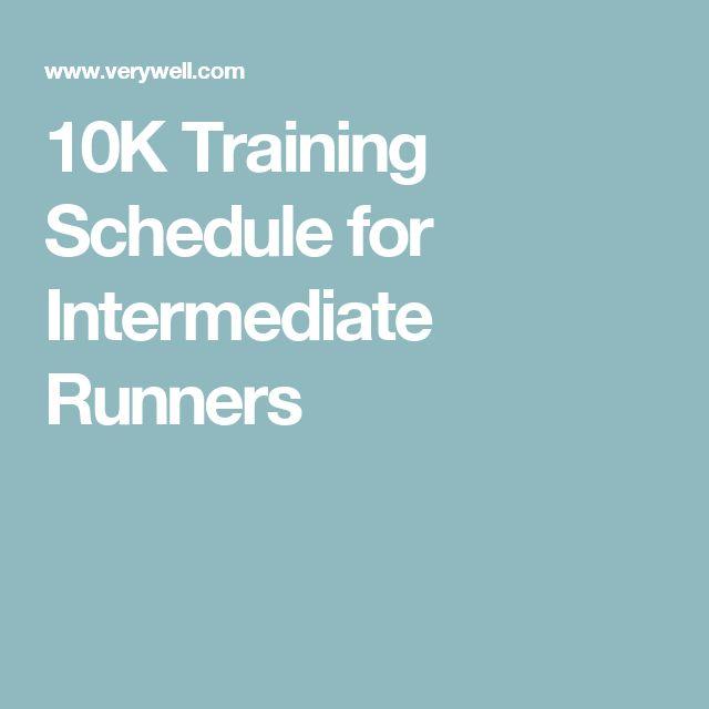 10K Training Schedule for Intermediate Runners