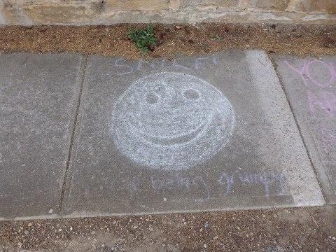 Smile! Stop being grumpy