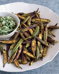 Skillet-Roasted Spiced Okra Recipe from Food & Wine - okra is growing ...