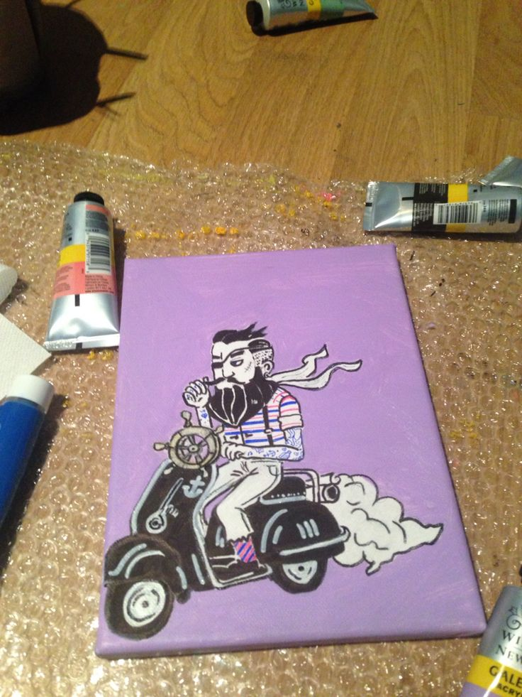 Mini art canvas ride awesome project
