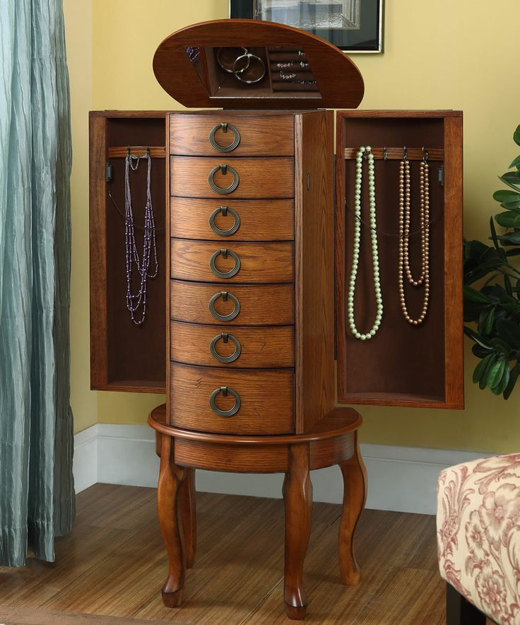 Burnished Oak Jewelry Armoire Available at JewelryBoxPlus.com - 62 Best Jewelry Boxes For Sale Images On Pinterest Jewelry