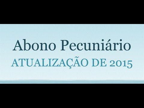 Como calcular o abono pecuniário em 2015 (2)