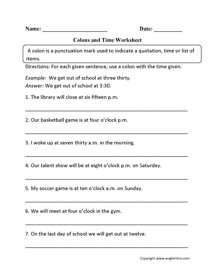 New semicolons and colons worksheet Useful
