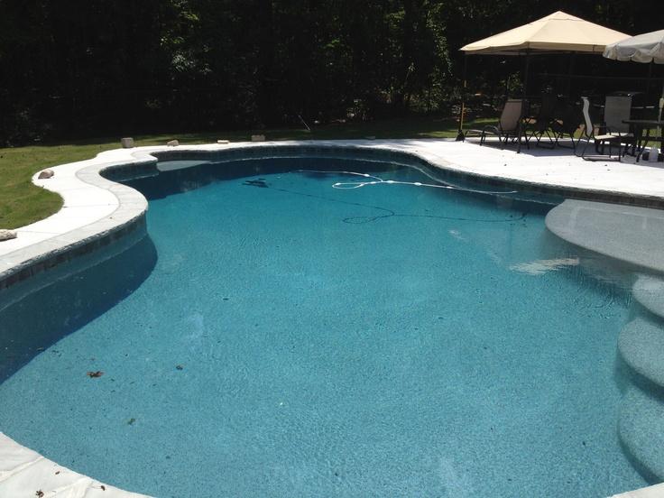 Moonlight grey Pebble Tec pool in Woodstock Ga.