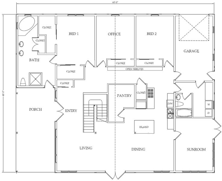 39 best 2 bedroom Plans images on Pinterest Small house plans